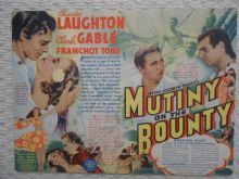 Mutiny on the Bounty, Flyer/Herald, Charles Laughton, Clark Gable, '35
